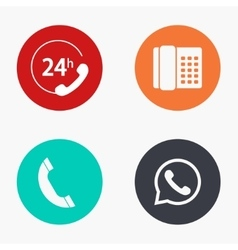Modern phone colorful icons set vector