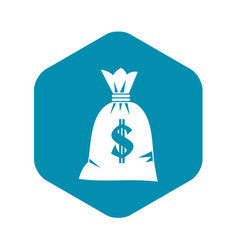 Money bag icon simple style vector