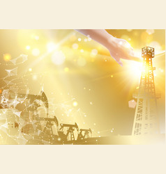 oil derrick industrial machine for drilling vector image