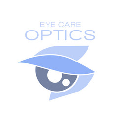 Optics eye care logo symbol oculist sign vector