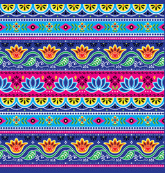 Pakistani truck art seamless pattern indian art vector
