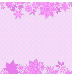 Pink borders with flowers vector image