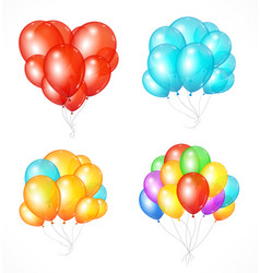 realistic balloon set vector image vector image