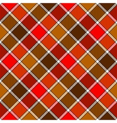 Red brown diagonal check plaid seamless pattern vector
