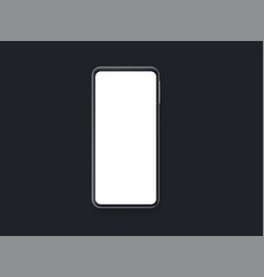 rgbblack smartphone with blank black screen vector image