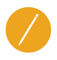 round icon yellow pencil cartoon vector image
