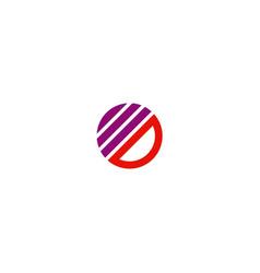 round stripe company logo vector image