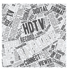 satellite tv hdtv 1 text background wordcloud vector image
