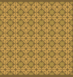 seamless pattern gold background vector image