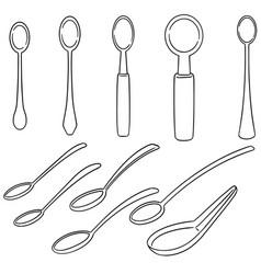 set of spoon vector image