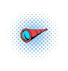 Spyglass icon in comics style vector image