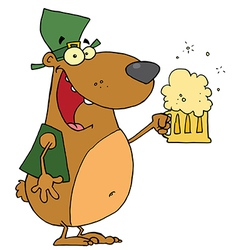 St Patricks Day Bear vector