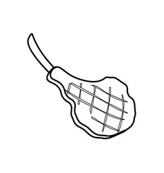 Steak meat coloring pages vector