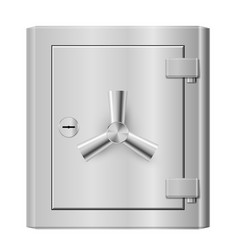 Steel safe on white background for design vector