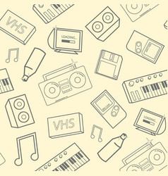 Stylish seamless pattern with old school vector