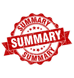 Summary stamp sign seal vector