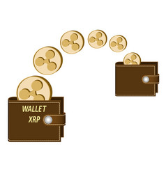 Transfer ripple coins from one wallet to another vector