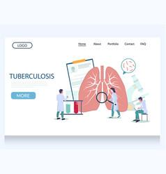 Tuberculosis website landing page design vector