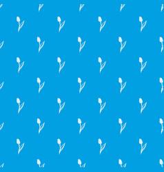 tulip pattern seamless blue vector image