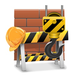 Under Construction Concept with Bricks vector image