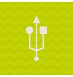 usb symbol design vector image