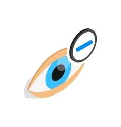 Vision myopia icon isometric 3d style vector