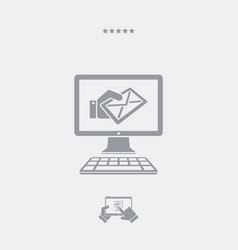 Web mail service icon vector