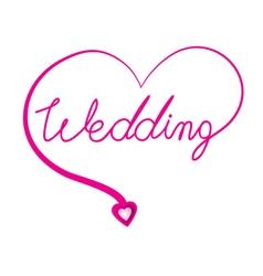 Wedding original custom hand lettering handmade vector image