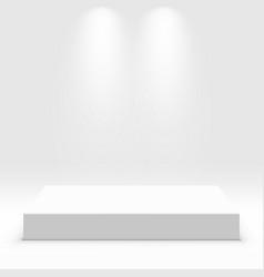 white podium for exhibit vector image