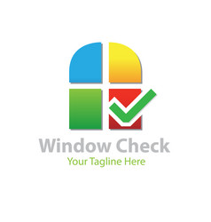 windows check logo designs vector image