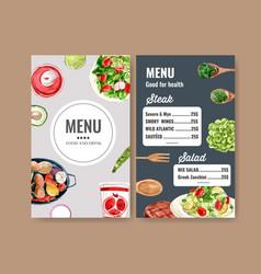 World food day menu design with salad avocado vector