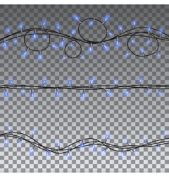 Christmas lights isolated design elements vector image vector image