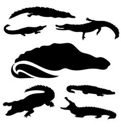 CrocodileSet vector image vector image