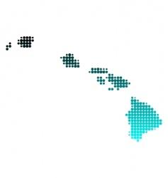 map of hawaii vector image vector image