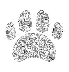 pet-shop icons vector image