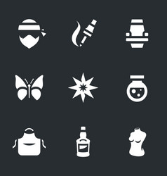 set of tattoo salon icons vector image
