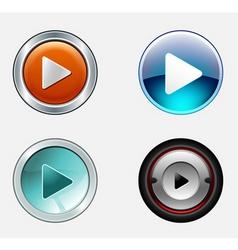 stylish play icons vector image