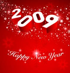2009 new year snow background vector image vector image