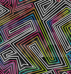 bright neon seamless pattern vector image vector image