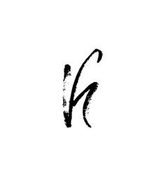 hand painted letter k dry brush modern lettering vector image