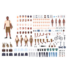young guy character constructor adult male vector image vector image