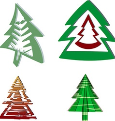 A set of Christmas trees vector image