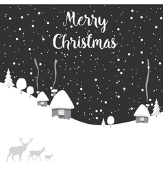 Merry christmas deer happy new year vector