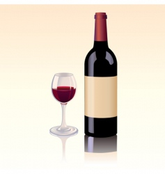 red wine bottle vector image vector image