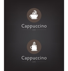set of cafe coffee bar vector image