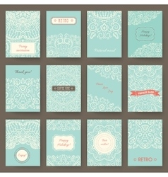 Set of perfect holiday templates with doodles vector image vector image