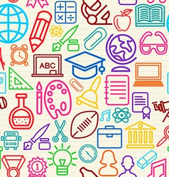 Colorful Education seamless pattern background vector image vector image