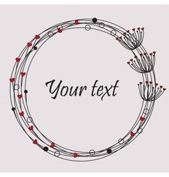 Cute unique floral card vector image