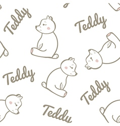 Seamless Pattern with Teddy Bear vector image vector image