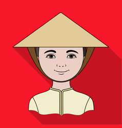 vietnamesehuman race single icon in flat style vector image